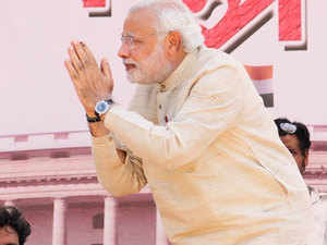"""Trying to strike an emotional chord with the electorate of this constituency ofUttarPradesh, Modi said his """"pride"""" lies in the hands of the people ofAmethi."""