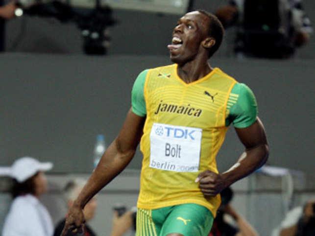 79e9ea47b73 New Usain Bolt-signed kicks for admirer - The Economic Times