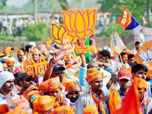 Modi supporters in Varanasi