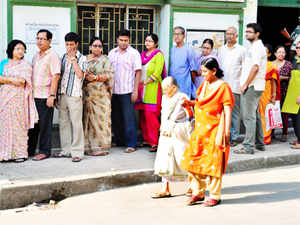 """""""Peaceful repolling is on in 11 booths under Arambagh, Hooghly, Burdwan, Burdwan-Durgapur, Birbhum and Bolpur Lok Sabha constituencies,"""" said an Election Commission (EC) official."""