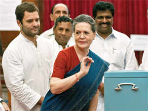 Taking 'full responsibility' for Congress' poor performance, both Sonia &RahulGandhi congratulated the opposition for the win.