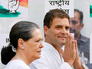 """Party president Sonia Gandhi, along with vice-presidentRahulGandhi, """"humbly"""" accepted responsibility for Congress' dismal performance."""