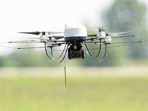 A four-rotor drone took off with the order from its outlet in central Mumbai's Lower Parel area and delivered it to a high-rise building in adjacent Worli.