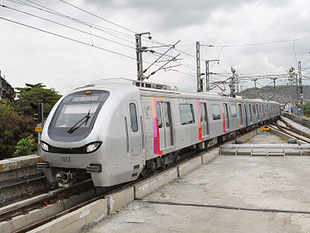 The metro line saw 2.4 lakh people travelling on the first day and is expected to carry 7 lakh commuters every day in its first year of operation,Reliance Infrastructure said.