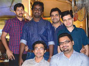 (Front row, from left): Abdulla Hisham and Arun Raveendran; (back row): Vishwajith A, Unni Koroth, Abdul Salaam and Arvind GS.
