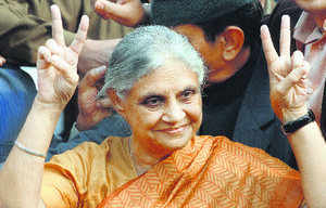 Dikshit rode high on her image as a graceful and dedicated politician.