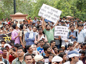 A group of students had carried out protests in Mukherjee Nagar and other areas of the national capital in support of their demand.