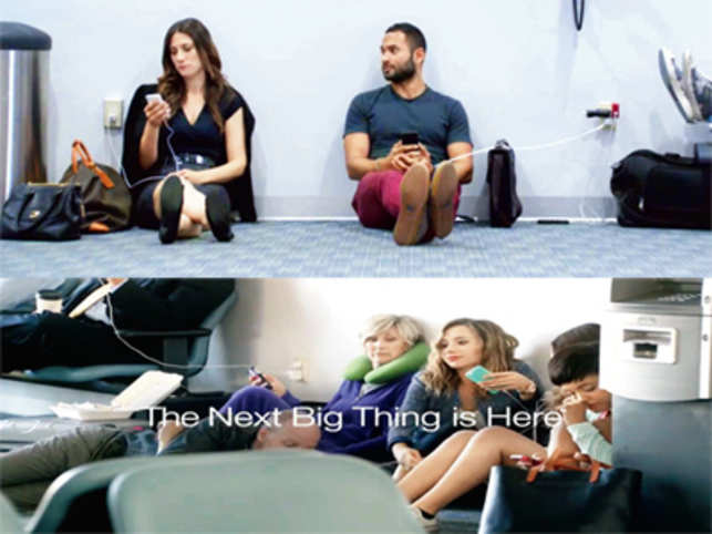 In the new spot created by 72 and Sunny, Samsung mocks Apple users who are forever plastered to nearby walls because of plug points.