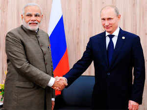 Indian prime minister Narendra Modi seeks Russian president's support to broaden cooperation in defence, nuclear and energy sectors.
