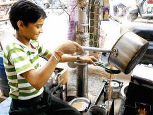 A kid tea-seller