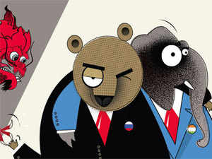 India needs to pay attention to this West-induced Sino-Russian strategic marriage even though it isn't clear that it has many options in the matter.