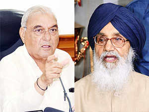 Parkash Singh Badal is trying to get political mileage but being a responsible man, he should not hurt the sentiments of the people of Haryana, said Haryana CM, Bhupinder Singh Hooda.