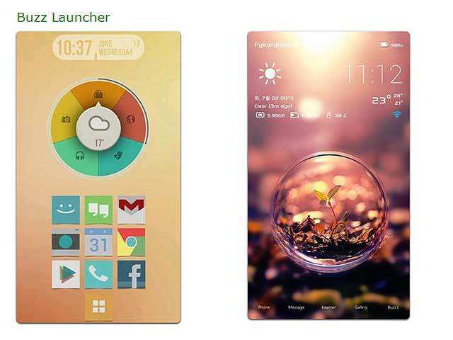 Buzz Launcher - 10 apps that will make your Android phone
