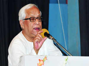 """Snubbing BJP as a communal party being headed by a man accused to spiralling riots in UP,Buddhadeb Bhattacharjee said the country has been facing a dangerous situation where a """"communal force supported by corporates is heading the country""""."""