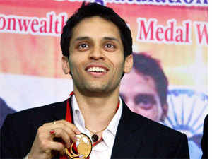 Parupalli Kashyap became the Indians at Glasgow first Indian to win a badminton men's singles gold at the Commonwealth Games in Glasgow since 1982.