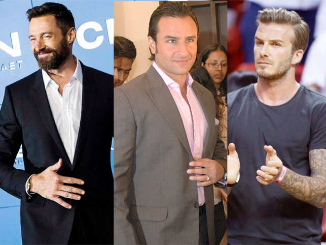Take this test to determine if you have managed to remain desirable even after hitting 40. (Left to right -Hugh Jackman, Saif Ali Khan and David Beckham)