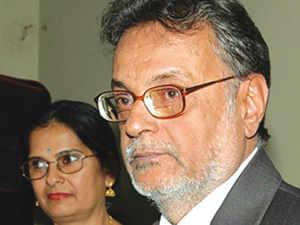 Amrit with late Balbir Singh Sethi, founder, koramangala.com.