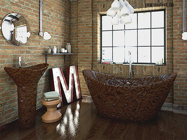 """Inspired by simple case of bad spelling, folks at Bathrooms.com have taken the """"bathroom sweets"""" instead of """"bathroom suites"""" very seriously. UK based chocolatiers Choccywoccydoodah have given shape to the sweetest bathroom suite."""
