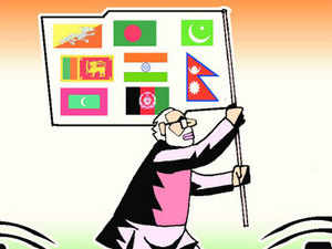 India is now the natural leader of Saarc. Mr Modi set the wheels in motion when he invited the prime ministers of all the Saarc nations to his inauguration.