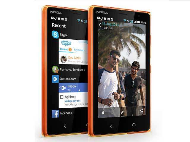 Microsoft launches android phone nokia x2 for rs 8699 microsoft it has 5mp rear camera with led flash gumiabroncs Choice Image