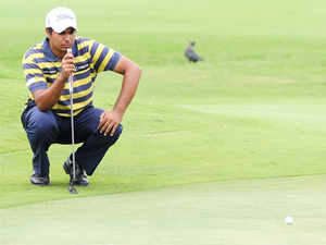 Bhullar, who had three birdies and as many bogeys was lying tied 47th, while Jeev Milkha Singh was tied 87th and Shiv Kapur was 129th.