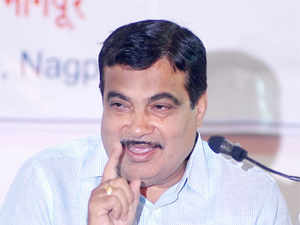 """Talking about the need for better waterway transport, Gadkari said, """"It will mean less pollution, less accidents, less cost."""""""