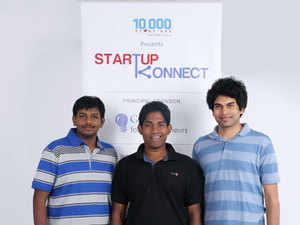 (From left) Bookpad founders Ashwik Reddy, Niketh Sabbineni, Aditya Bandi