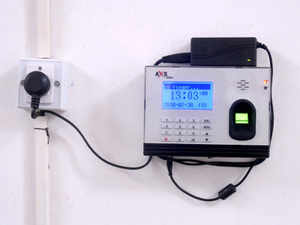 """REPRESENTATIVE IMAGE: """"The biometric attendance system for central employees will be fully functional by the end of this month,"""" IT Secretary Ram Sharma said."""