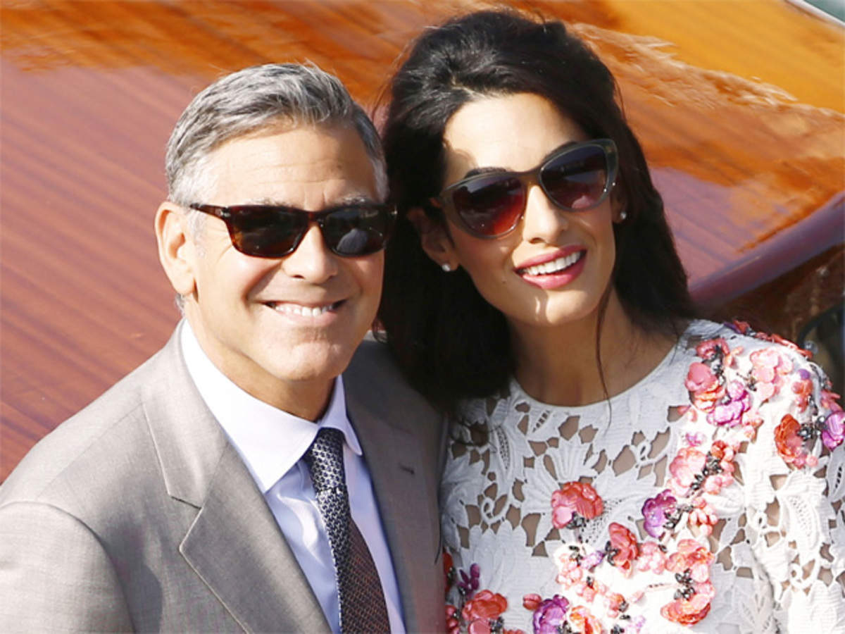 FIRST LOOK: Mr and Mrs Clooney step out together after