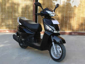 Mahindra & Mahindra, which is yet to make a mark in the two-wheeler space, today launched a new 110-cc scooter 'Gusto'.