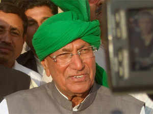 In January last year, Chautala, his son Ajay and eight others were awarded 10 years jail for illegally recruiting 3,206 junior basic teachers in 2000.