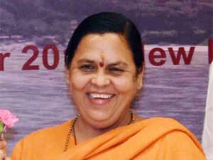Uma Bharati participates in 'Run for Unity' in Uttar Pradesh