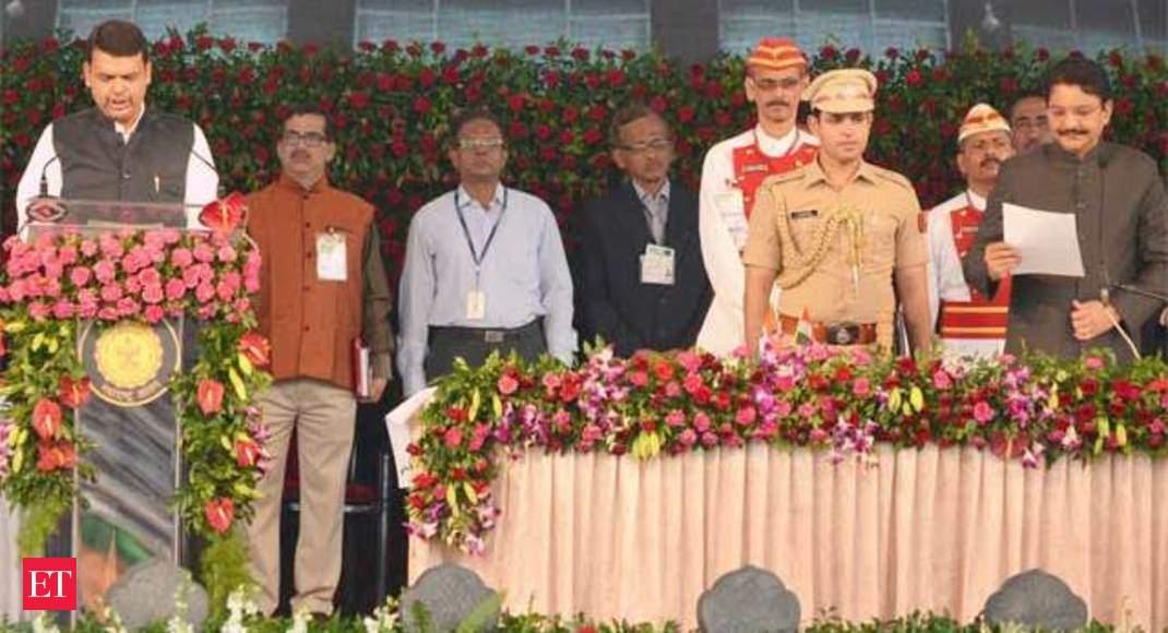 Devendra Fadnavis' swearing-in ceremony in Mumbai - Devendra