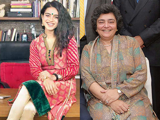 Anjali (left), the daughter of Zia Mody (right), one of India's leading corporate legal eagles, reveals why she chose a career of creativity as a furniture designer.