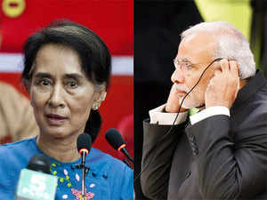 "The Prime Minister referred to Suu Kyi as a ""symbol of democracy"", referring to the enormous efforts made by her for restoration of democracy in Myanmar."