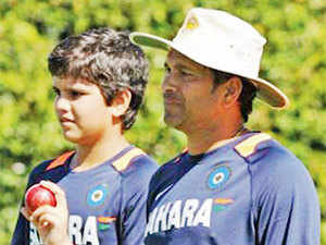 Even in Playing It My Way, mentions of Arjun are more in the family context, and not in the context of Tendulkar junior's cricket.