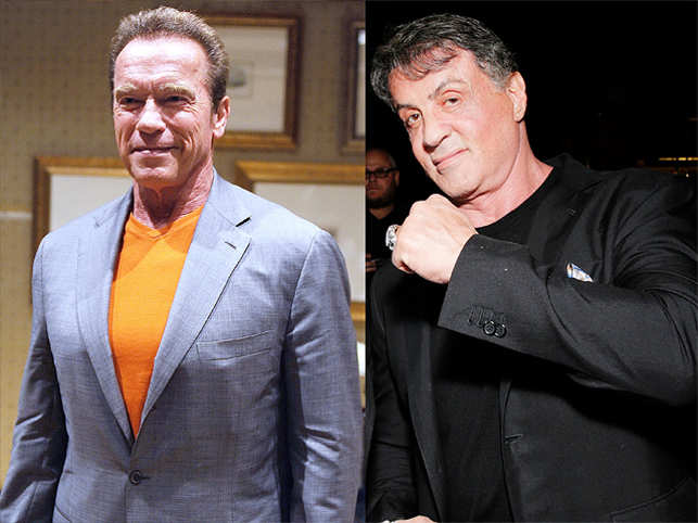 Schwarzenegger said both the action stars competed with each other on all levels, from their body to the amount of money their films made at box office.