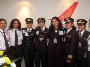 Air India-Indian Airlines has the second largest number of women pilots at 171, and often has an all-women crew operating its longest non-stop flights to the US.