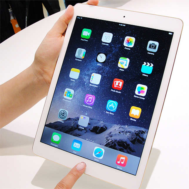 The iPad Air 2 is just 6.1 millimetre thin which is 18 per cent less than the previous version and weighs only 437 grams.
