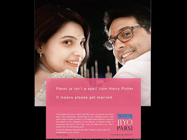 Offer valid till Parsi stock lasts. But perhaps not if the Jiyo Parsi campaign has anything to do with it. The end goal is to save Parsis from extinction. The solution, it seems, is breeding at rabbit pace.