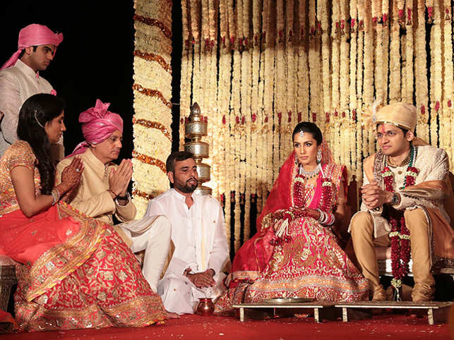 The ceremony was telecast live on giant LED screens. The guests were given a booklet of the entire ceremony and the mantras so that they could also follow the same.