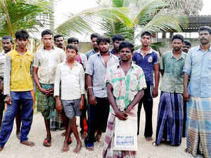 The fishermen were arrested on Nov 28, 2011 for alleged drug trafficking by Sri Lanka and were sentenced to death by a court there on October 30.