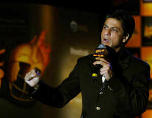 Bollywood actor and owner of Indian Premier League's cricket team Kolkata Knight Riders (KKR), Shah Rukh Khan at a press conference. (BCCL)