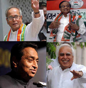The Congress Trinity Congress celebrates New Cabinet ministers Deserted BJP offices United Colours of Indian Polls