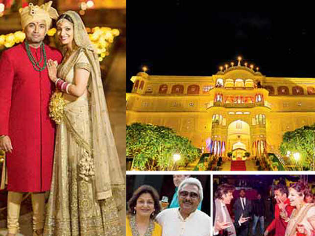 Britannia's former MD hosted a lavish do at Samode Bagh for his daughter Anjori and her new husband Rohit Goyal.
