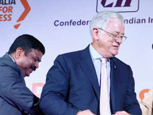 The two-way trade between India and Australia stands at a relatively modest $15 billion a year compared with $150 billion for Australia-China.