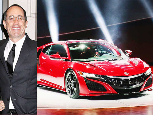 JerrySeinfeld was attending the event in Detroit for the first time and asked to be there to see Honda debut its Acura NSX supercar, said Mike Accavitti, Acura's senior vice president.