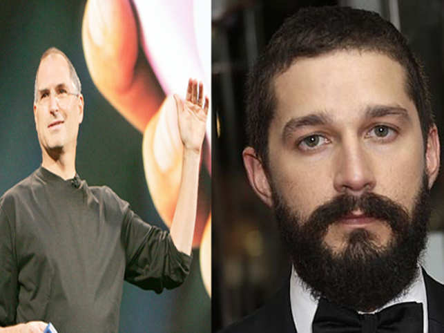 Many of Shia LeBeouf's (R) colleagues have commented on his unpleasant nature. Steve Jobs (L) was notoriously hard on his employees and treated them shoddily.