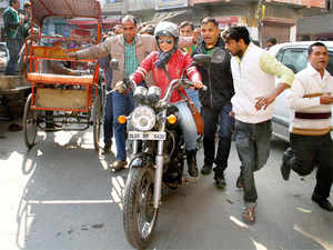 As poll fever grips the capital, Aam Aadmi Party has roped in its spunky Chandigarh Lok Sabha candidate Gul Panag to give a leg-up to their campaign with bike rallies.