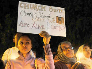 It is the fifth such attack in the city since November and has sparked outrage among the members of the Christian community.